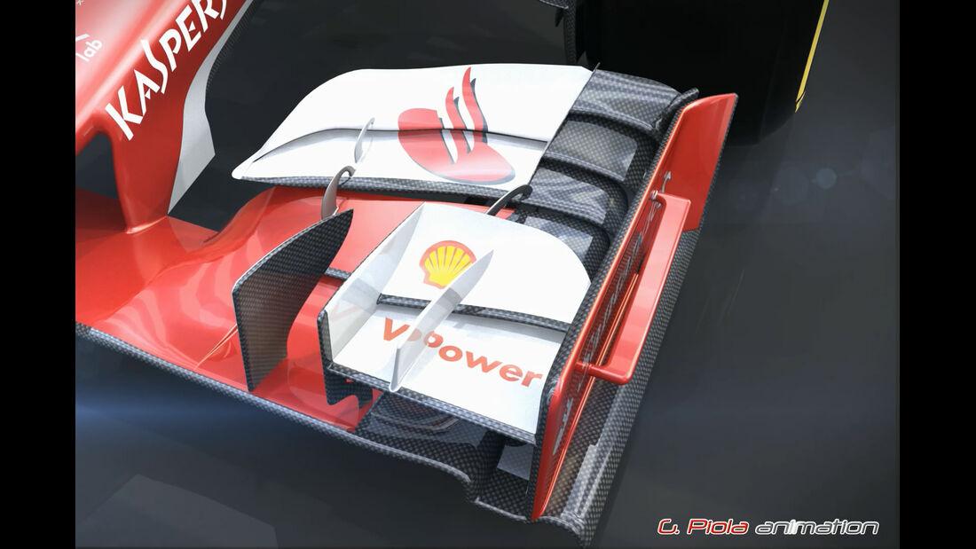 F1 Technik: Ferrari SF15-T - Piola Animation - 2015