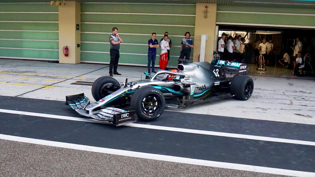 Formel 1 Auto Beschleunigung