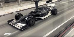 F1-Windkanal-Test für 2021 - Sauber-Windkanal