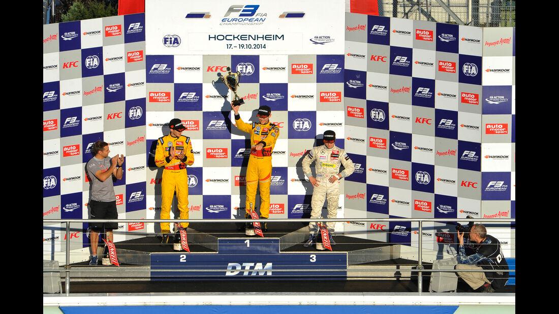 FIA Formel 3 Europameisterschaft - Podest - Hockenheim - 2. Rennen - 10/2014