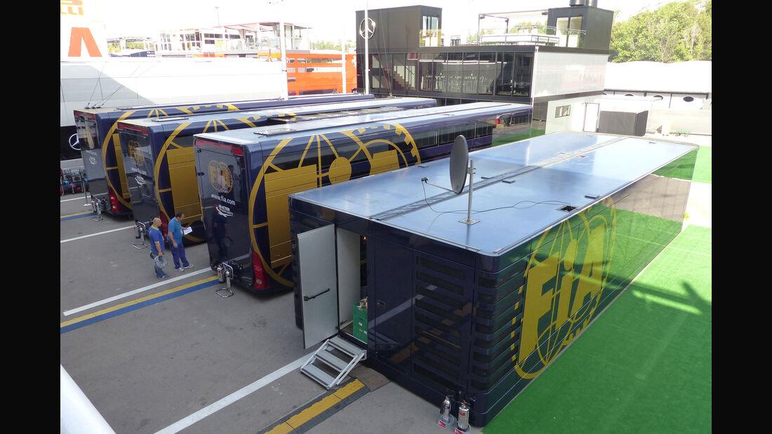 FIA - Motorhome - GP Spanien 2015 - Barcelona