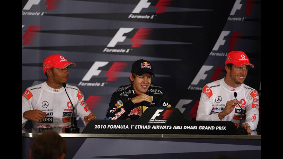 FIA PK Hamilton Vettel Button GP Abu Dhabi 2010