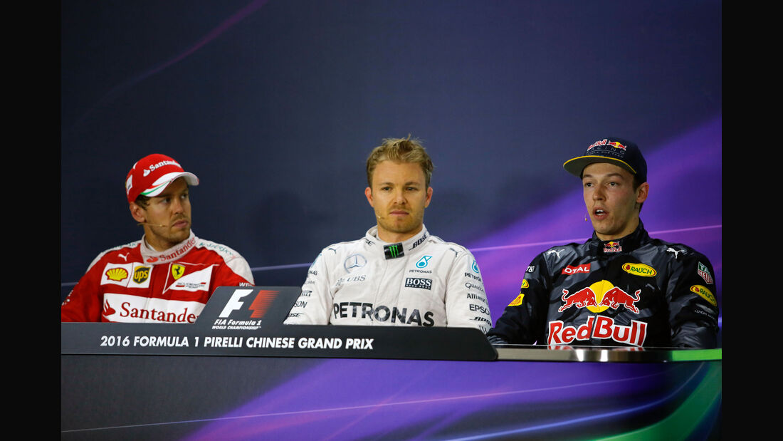 FIA-PK - Rosberg - Vettel - Kvyat - GP China 2016 - Shanghai - Rennen
