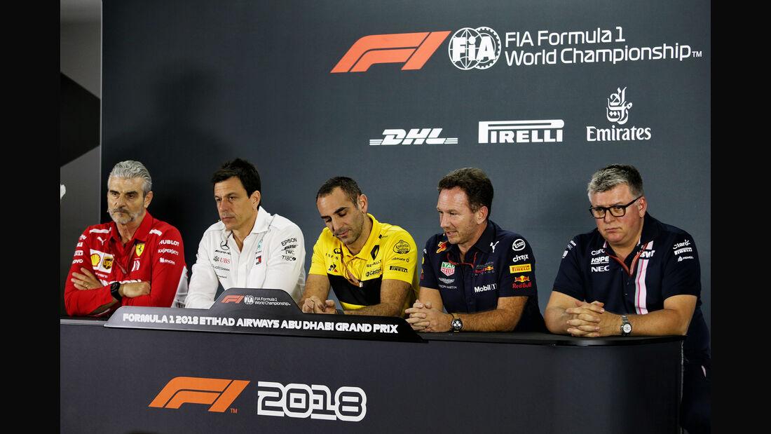 FIA-PK - Teamchefs - GP Abu Dhabi - Formel 1 - 23. November 2018