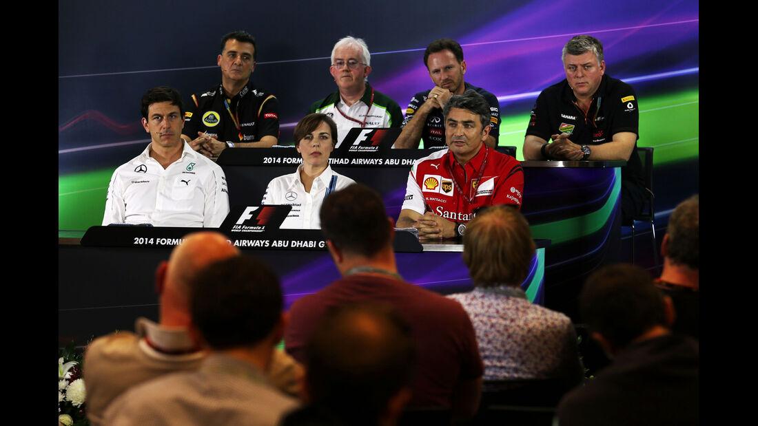 FIA-Pressekonferenz - Formel 1 - GP Abu Dhabi - 21. November 2014