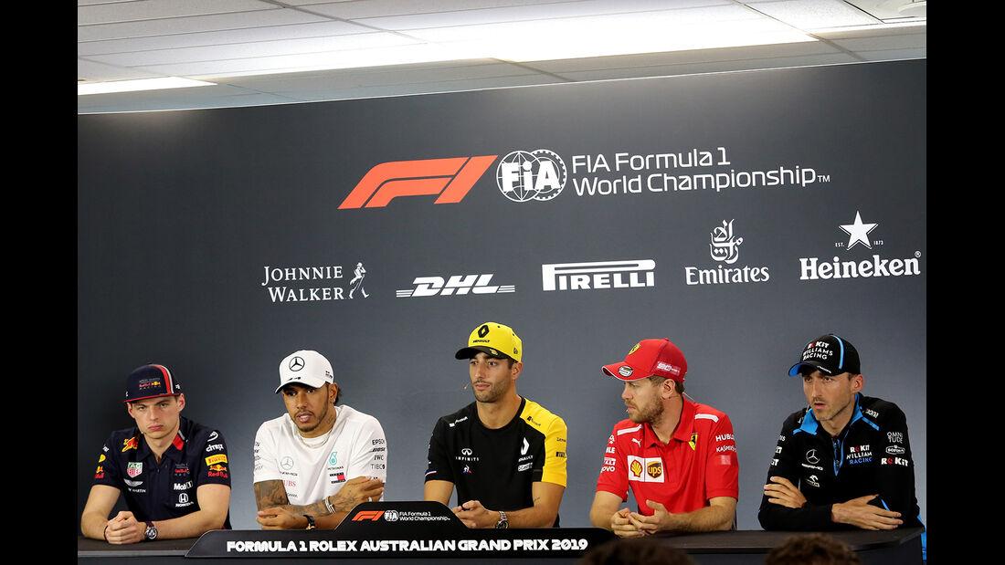 FIA-Pressekonferenz - Formel 1 - GP Australien - Melbourne - 14. März 2019