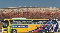 FIFA, Fussball WM, 2010, Busse, Hyundai, Australien