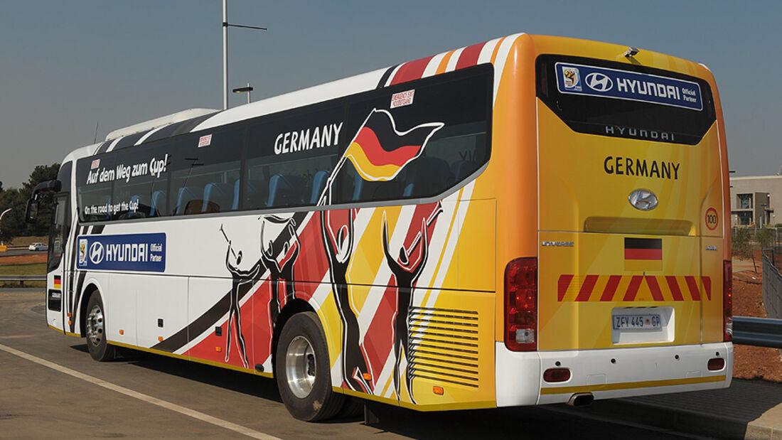 FIFA, Fussball WM, 2010, Busse, Hyundai, Deutschland
