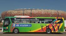 FIFA, Fussball WM, 2010, Busse, Hyundai, Kamerun