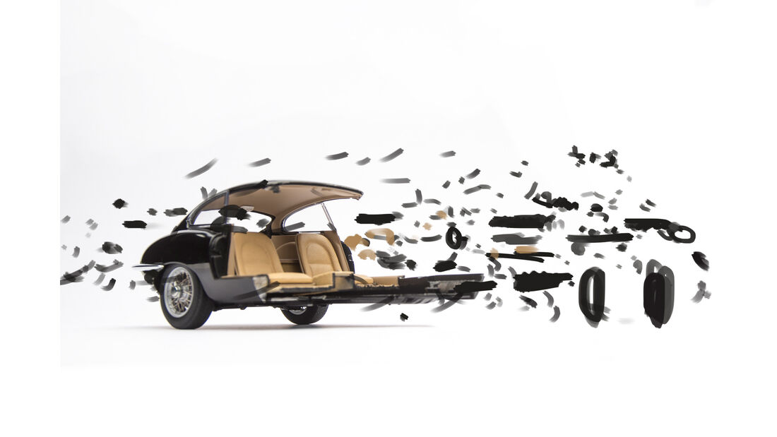 Fabian Oefner, Jaguar E-Type Coupé, Zeichnung