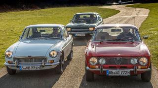Fahrbericht-Alfa-2000-GTV-Ford-Capri-2600-GT-MGB-GT