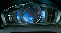 Fahrbericht Volvo V60-Diesel-Plug-inybrid, V60, Tacho,  Display