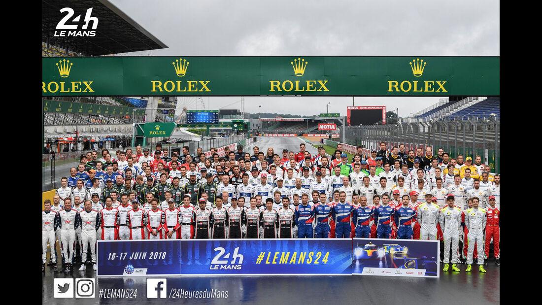 Fahrer - Foto - 24h Le Mans 2018