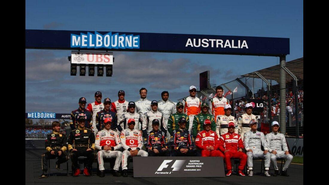 Fahrer GP Malaysia 2011 Formel 1