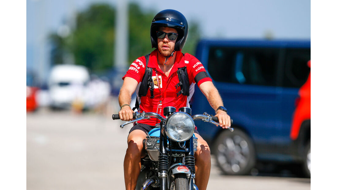 Fahrerautos - GP Ungarn 2018 - Sebastian Vettel - Triumph