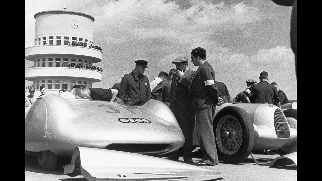 Fahrerlager Avus-Rennen 1937