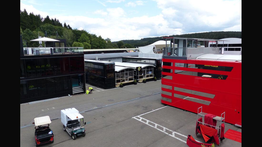 Fahrerlager - Formel 1 - GP Belgien - Spa-Francorchamps - 20. August 2014