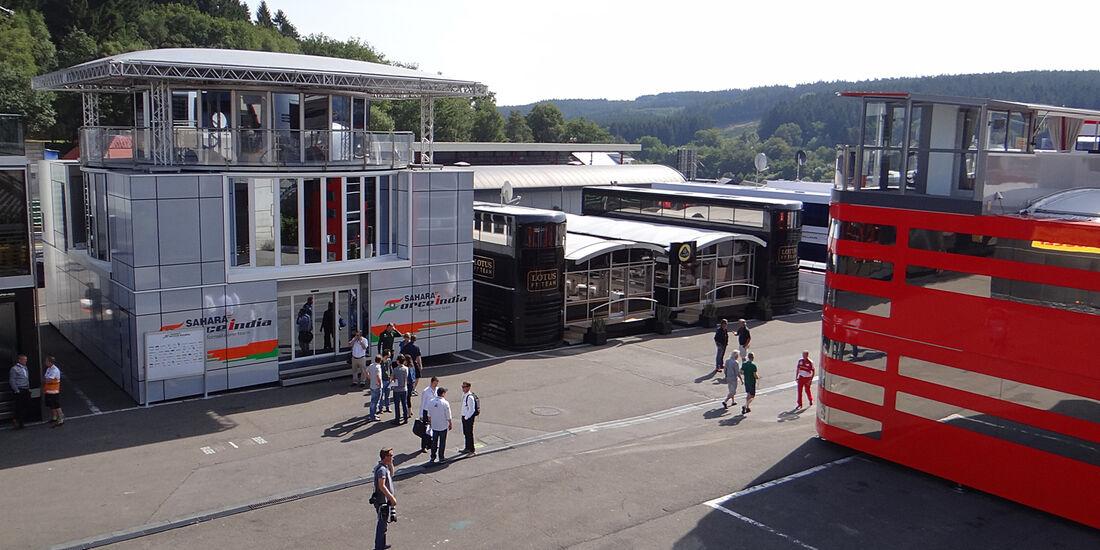 Fahrerlager - Formel 1 - GP Belgien - Spa-Francorchamps - 22. August 2013