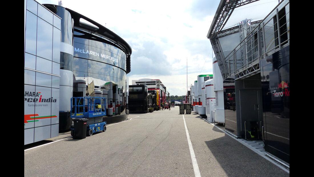 Fahrerlager - Formel 1 - GP Deutschland - Hockenheim - 16. Juli 2014