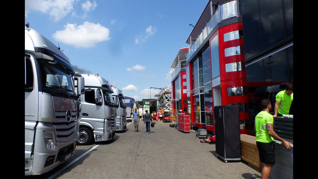 Fahrerlager - Formel 1 - GP Deutschland - Hockenheim - 27. Juli 2016