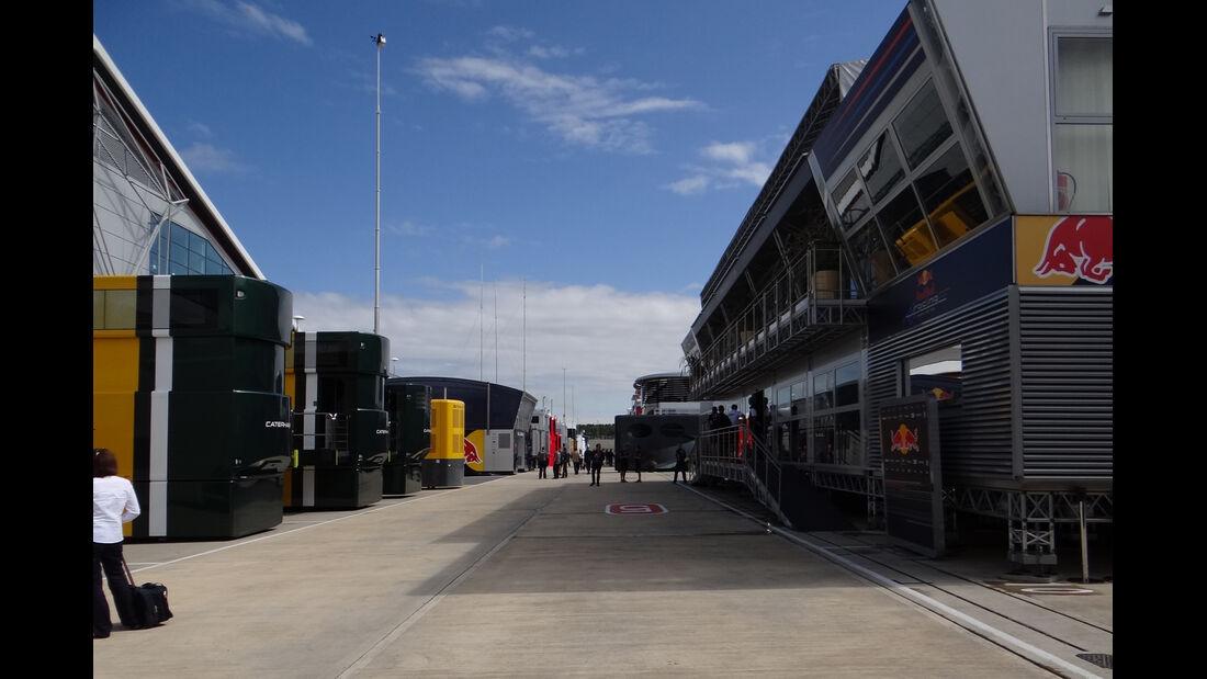 Fahrerlager - Formel 1 - GP England - Silverstone - 5. Juli 2012