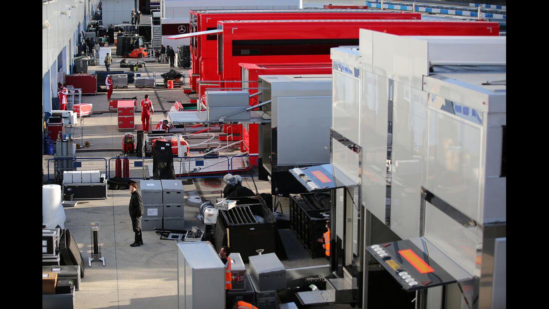 Fahrerlager - Formel 1-Test - Jerez - 4. Februar 2015