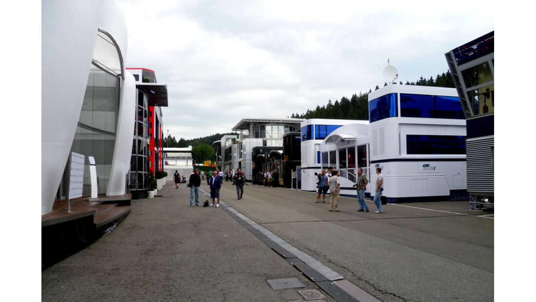 Fahrerlager - GP Belgien - 25. August 2012