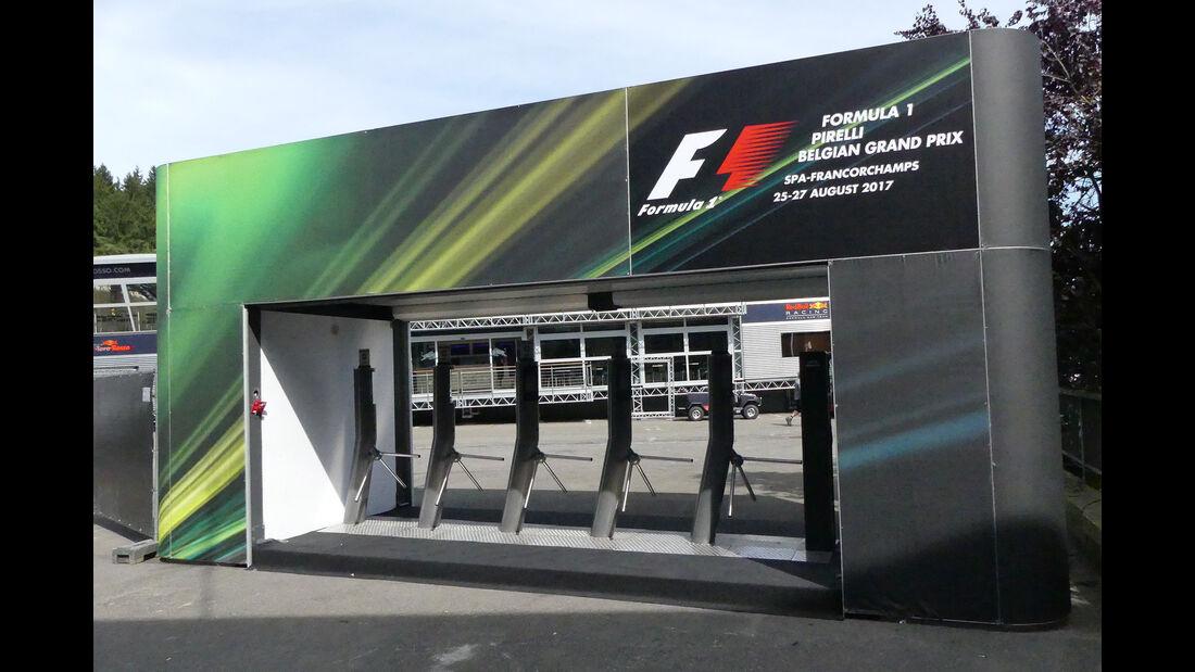 Fahrerlager - GP Belgien - Spa-Francorchamps - Formel 1 - 23. August 2017