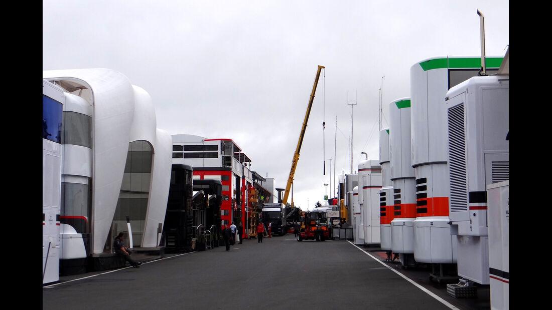 Fahrerlager - GP Deutschland - Nürburgring - 3. Juli 2013