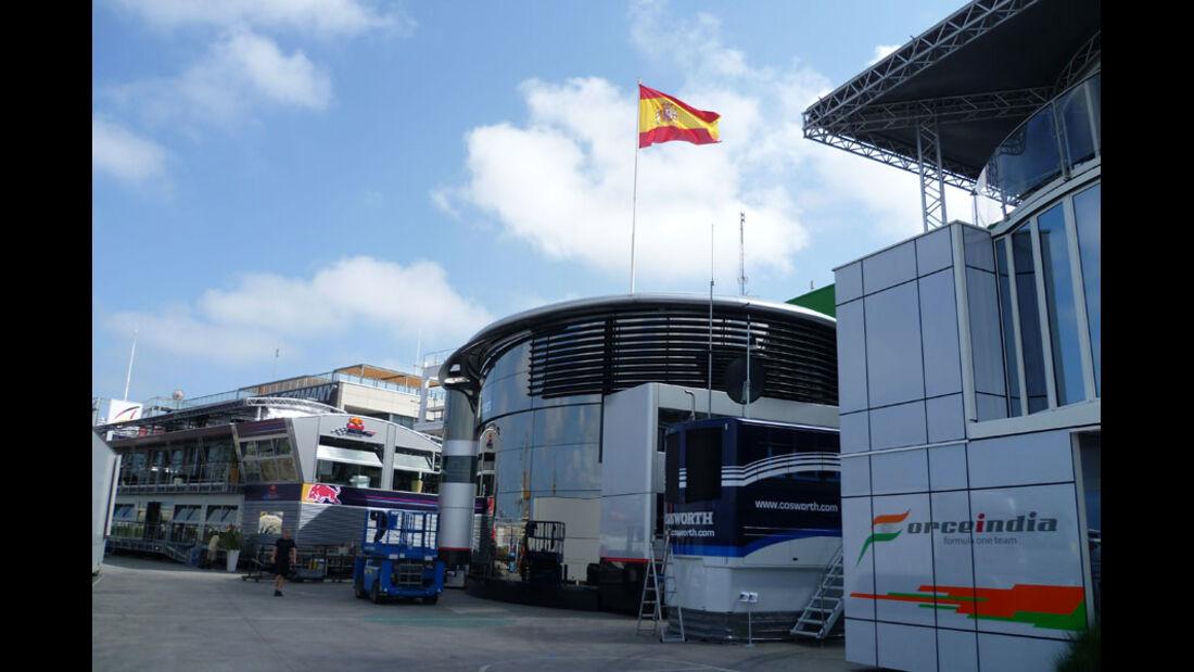 Fahrerlager GP Europa 2011