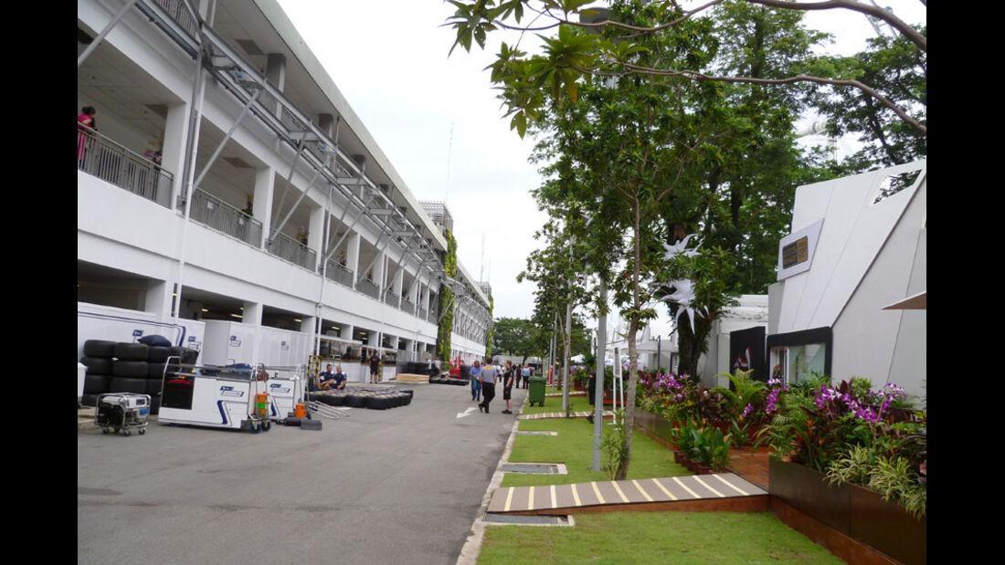 Fahrerlager - GP Singapur - 22. September 2011