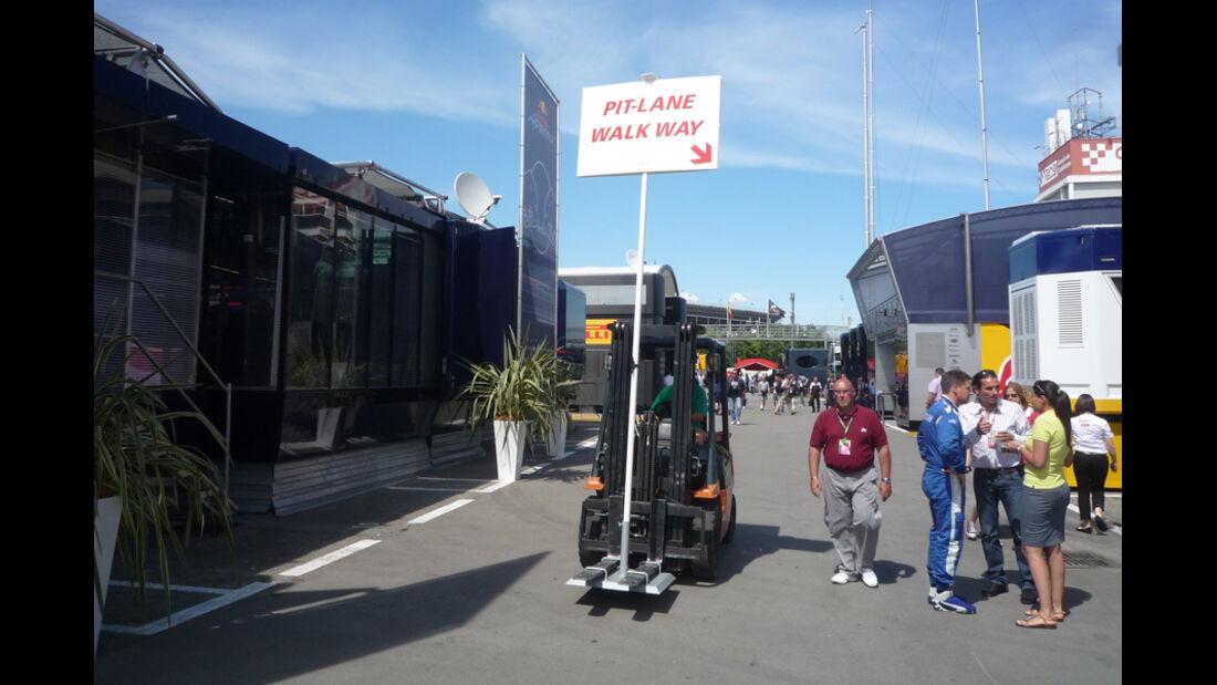 Fahrerlager GP Spanien 2011