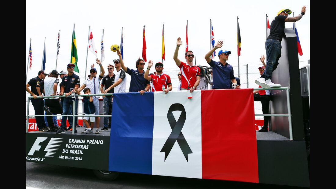 Fahrerparade - Formel 1 - GP Brasilien- 15. November 2015