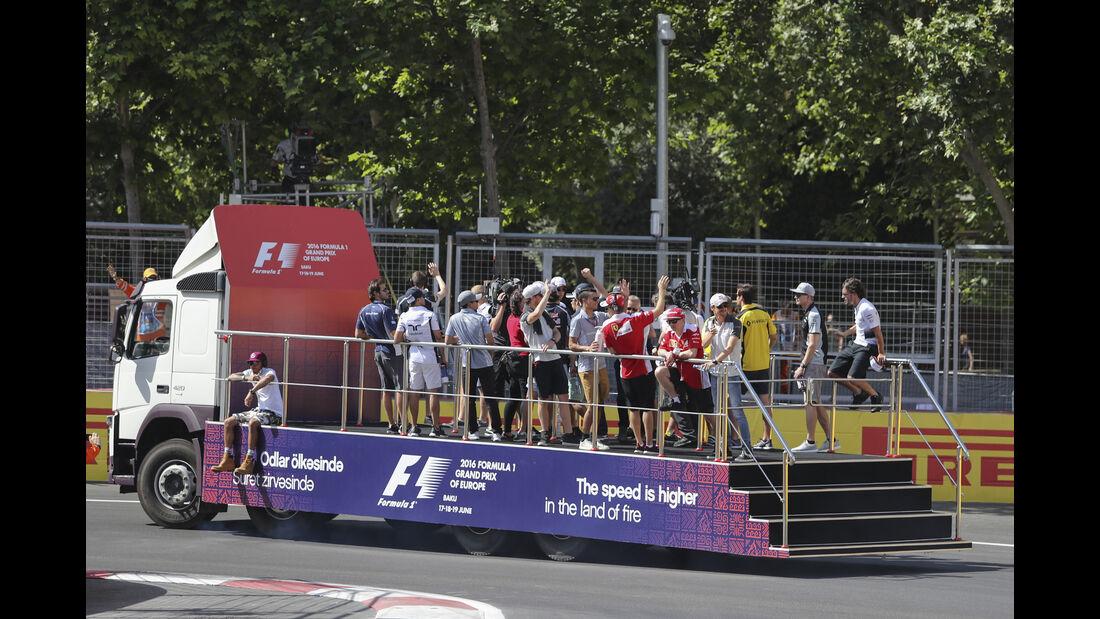 Fahrerparade - GP Aserbaidschan - Formel 1 - 2016