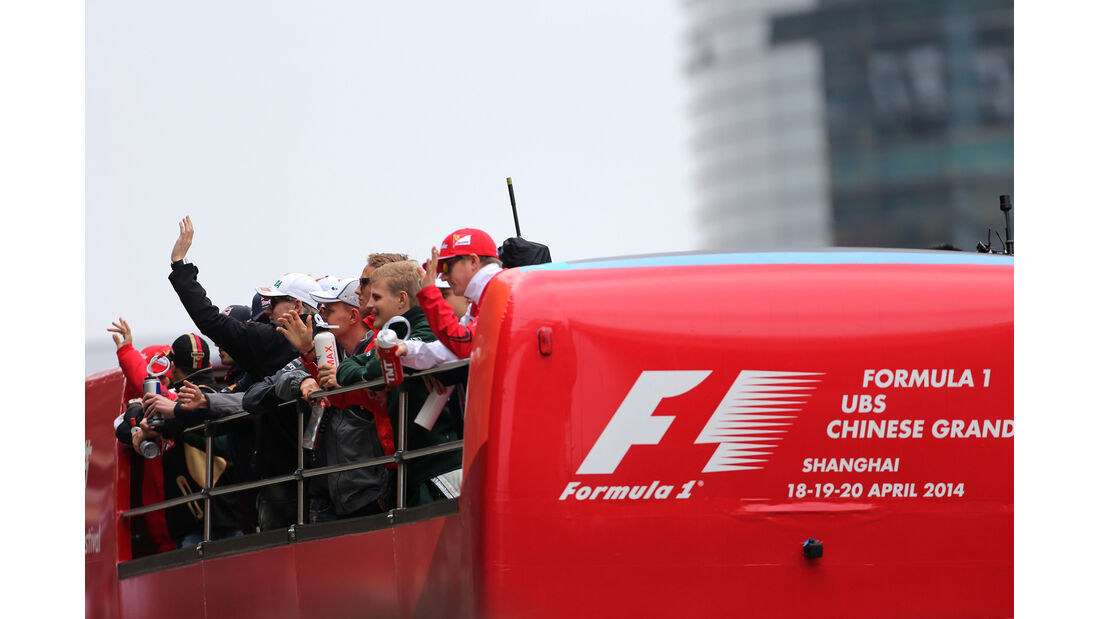Fahrerparade - GP China 2014