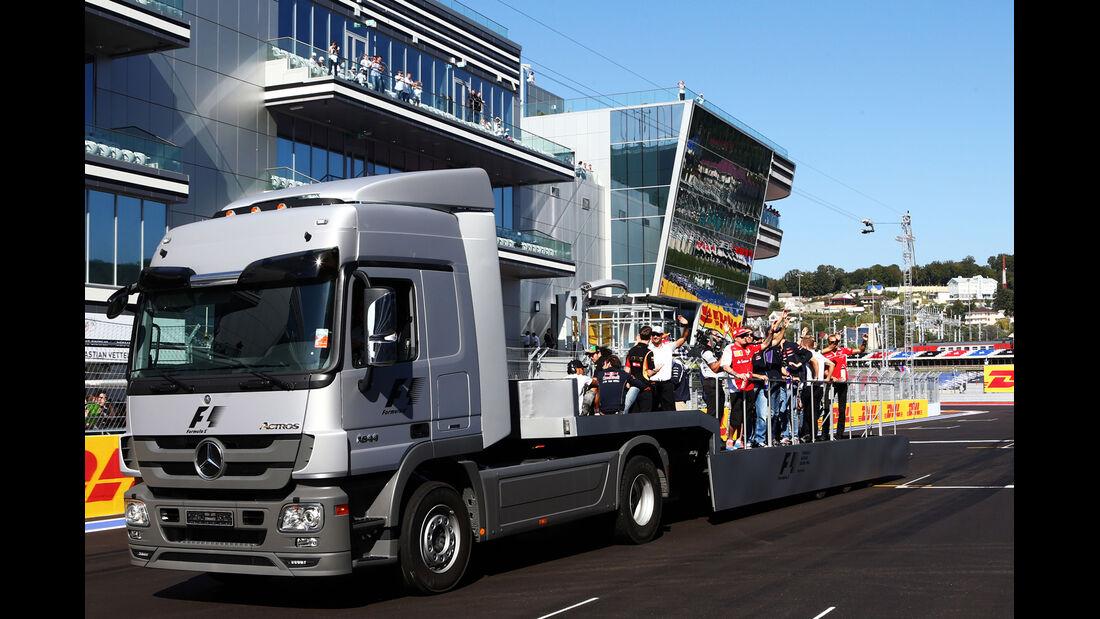 Fahrerparade - GP Russland 2014
