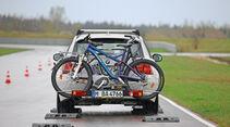Fahrradträger, Crashtest, Testaufbau