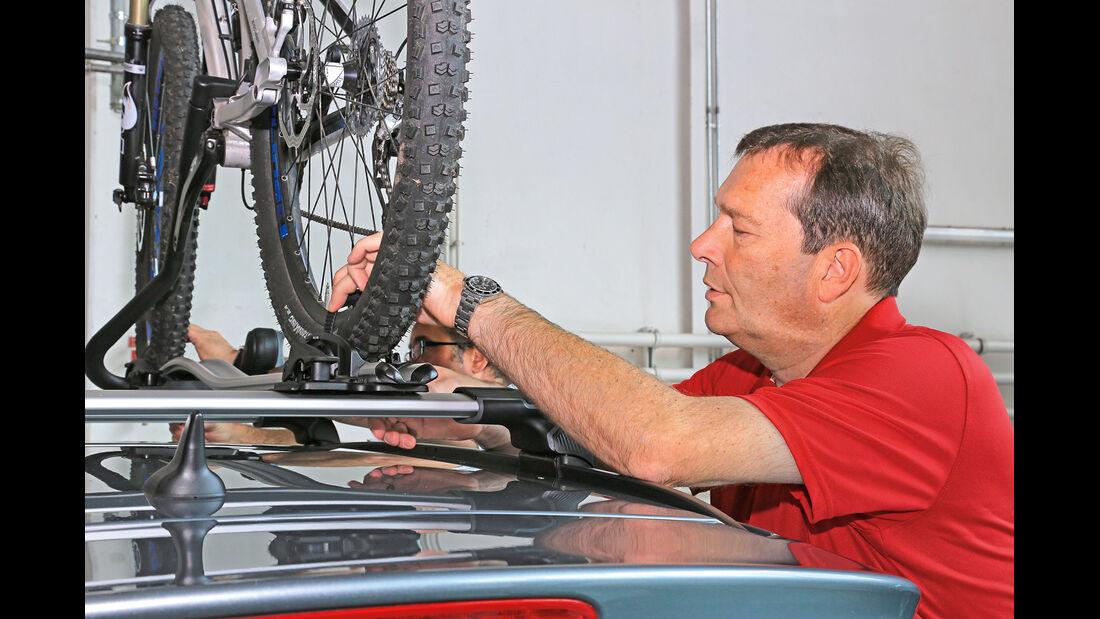 Fahrradträger-Konzeptvergleich, Montage