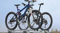 Fahrradträger, Rüttelstrecke, Testauto