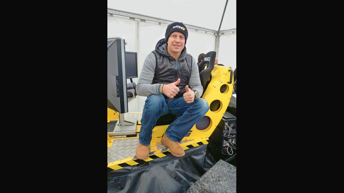Fahrsimulator Ellip 6, Olivier Panis