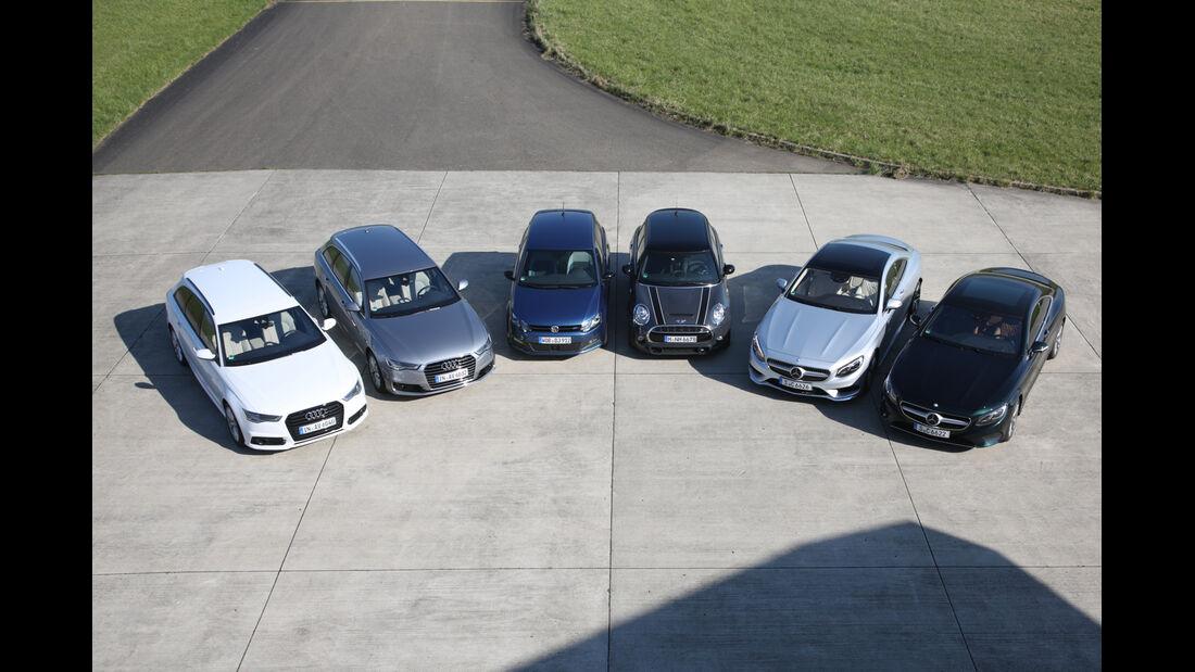 Fahrwerksvergleich, alle Fahrzeuge