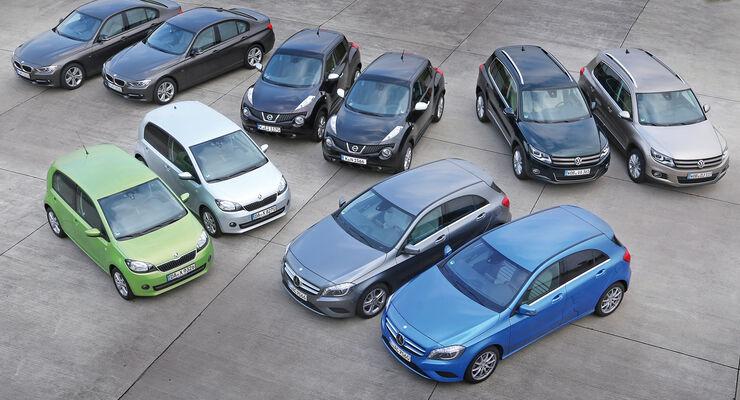 Fahrzeuge, Gruppenbild