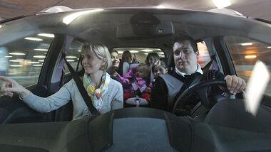 Familie, Autofahrt