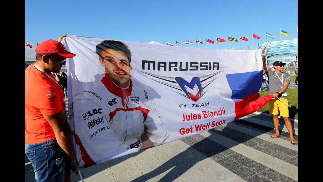 Fans - Jules Bianchi-Tribute - GP Russland 2014