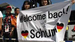 Fans von Michael Schumacher in Japan