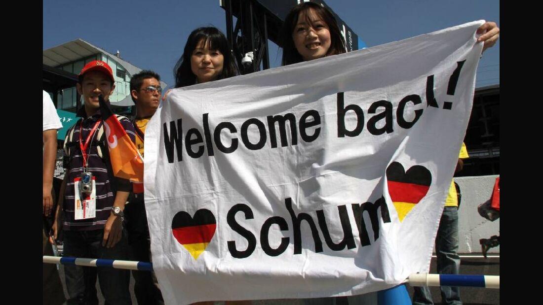 Fans von Michael Schumacher in Japan