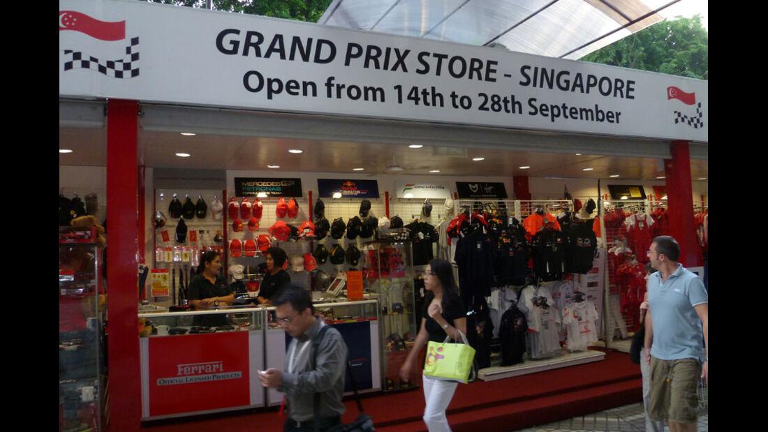 Fanshop - GP Singapur - 22. September 2011