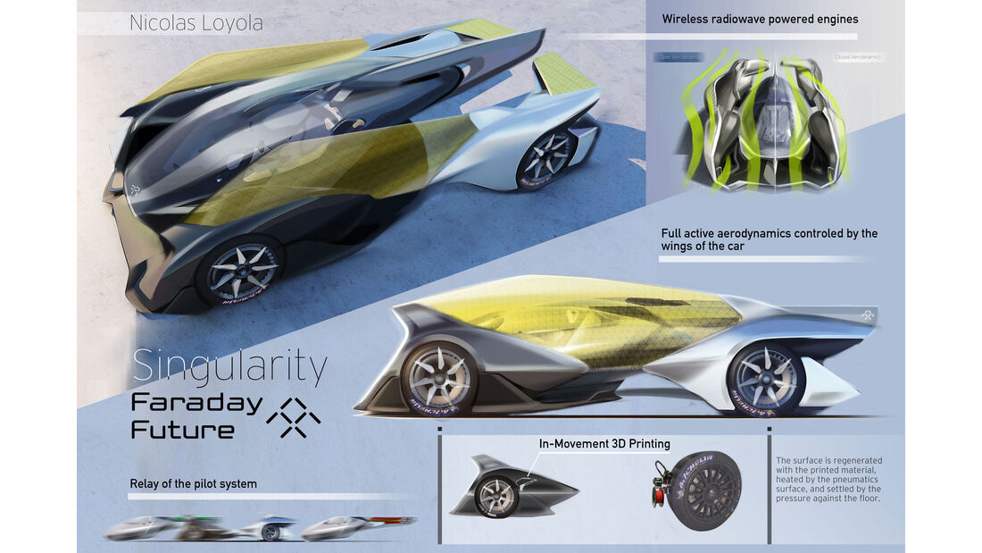 Faraday Future Singularity - Le Mans 2030 - Michelin Challenge Design - Motorsport