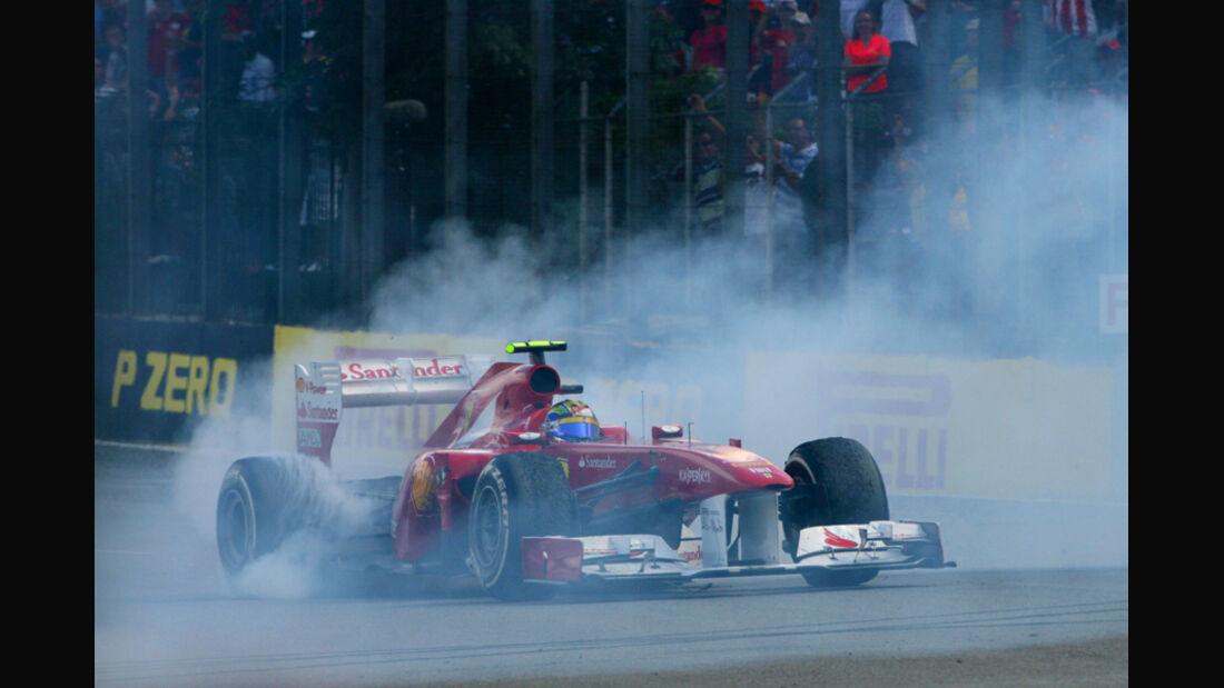 Felipe Massa Burnout GP Brasilien 2011