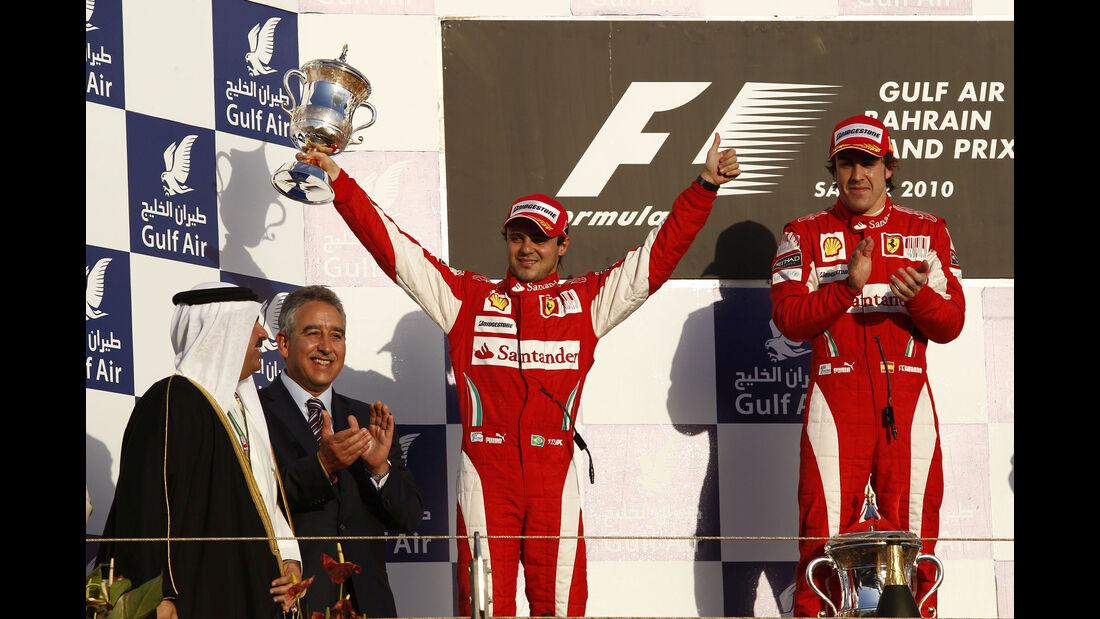 Felipe Massa - Fernando Alonso - Ferrari - Abu Dhabi 2010
